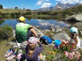 Bergsee Tumpen Gehsteigalm